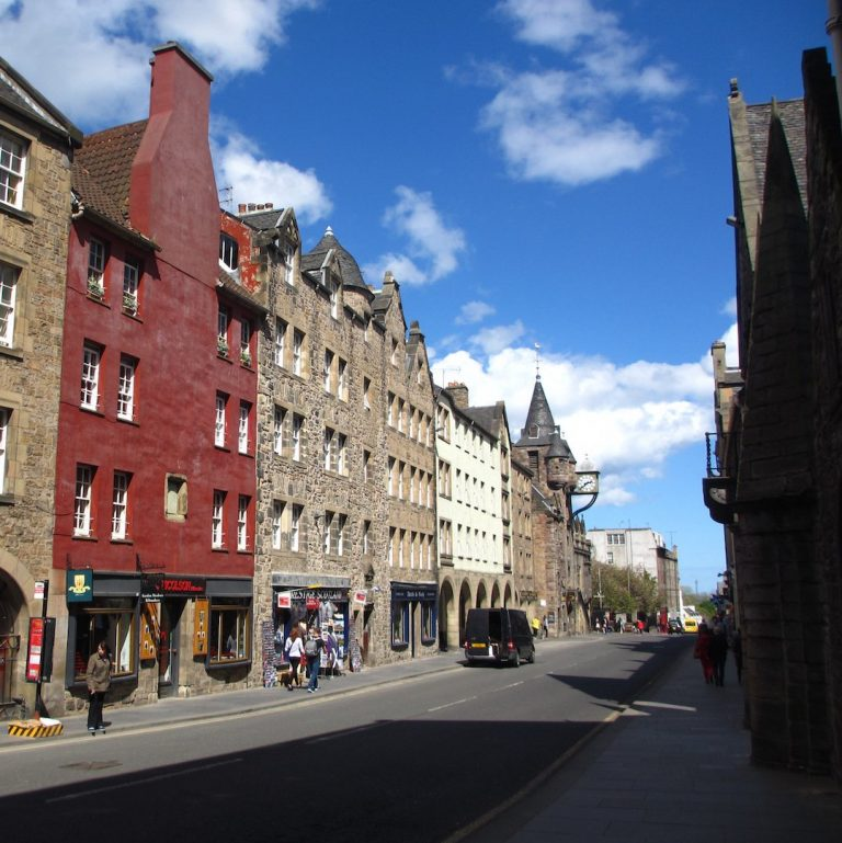 Gables of Canongate on a Old Town Architecture Walking Tour