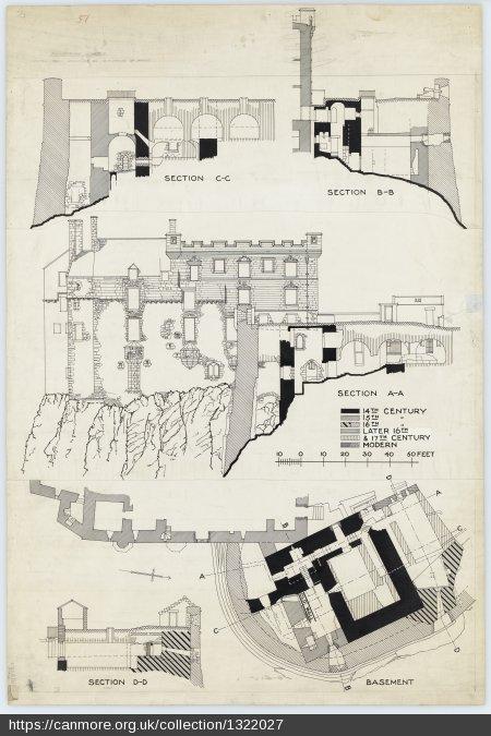 Edinburgh David's Tower Architectural Drawings