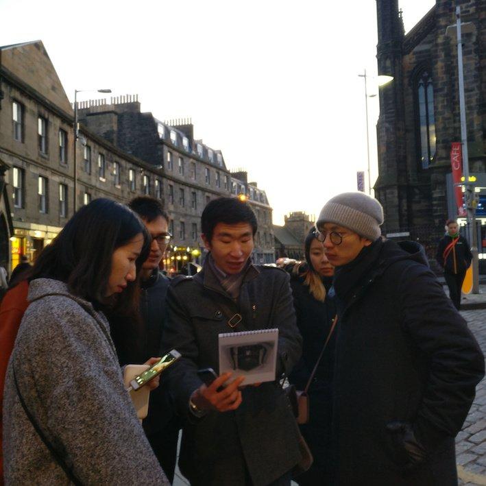 Mandarin Edinburgh Architecture Chinese speaking Tour Dusk