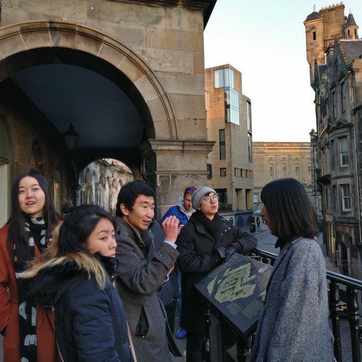 Mandarin Edinburgh Architecture Chinese speaking Tour Terrace