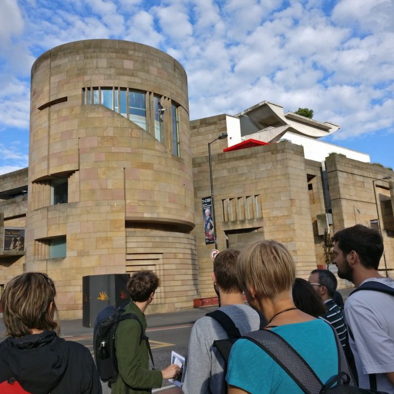 Edinburgh Architecture Tour Guide explaining building