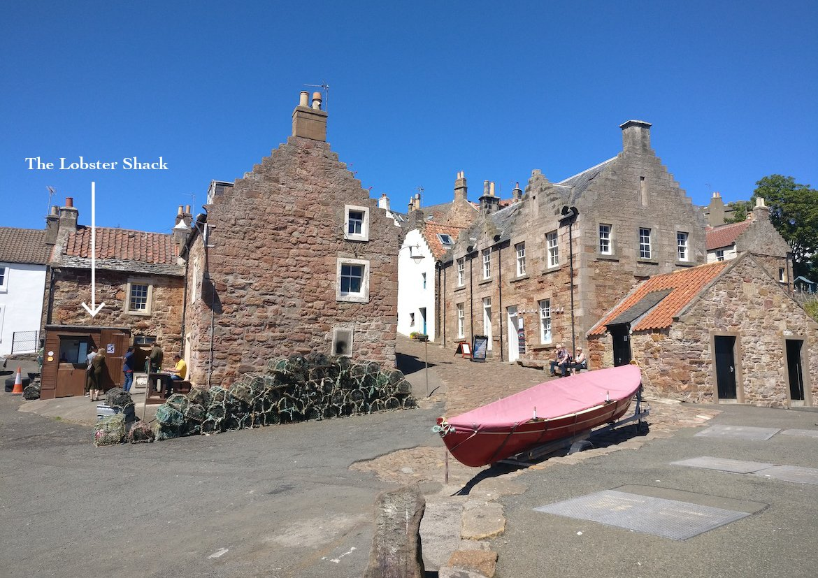 Crail Harbour and Reilly Shelfish lobster on a Fife Architecture Tour