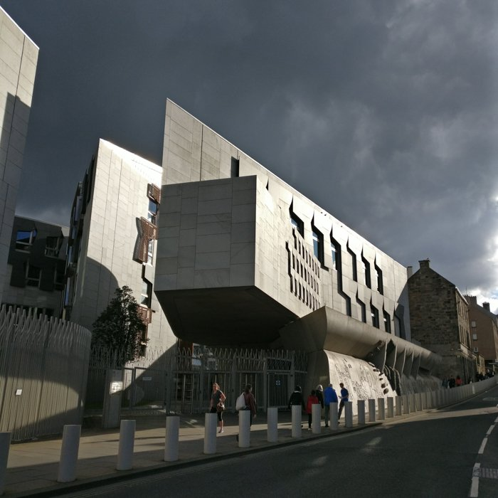Scottish Parliament Enric Miralles Canongate Wall | Old Town Architecture Tour Edinburgh