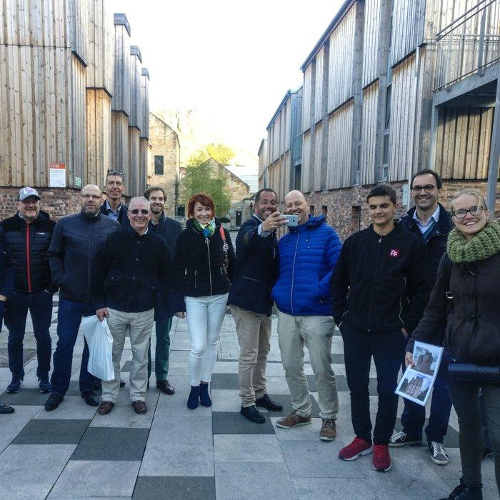 Architecture Tour group in Sugarhouse Close Edinburgh Old Town