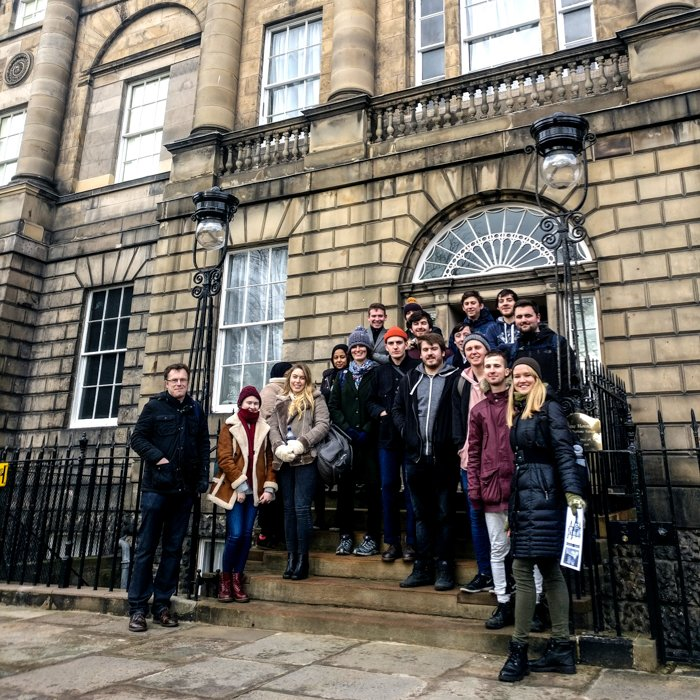 Architecture Tour group in Georgian Charlotte Square Edinburgh