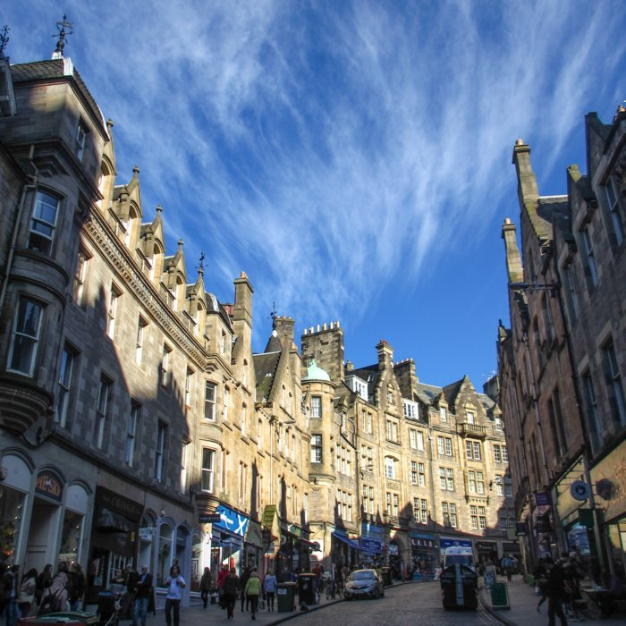 Edinburgh Old Town Scottish Baronial Street | | Group Architecture Tours