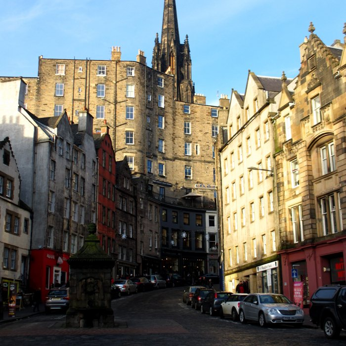 West Bow from Grassmarket | Old Town Architecture Tour Edinburgh
