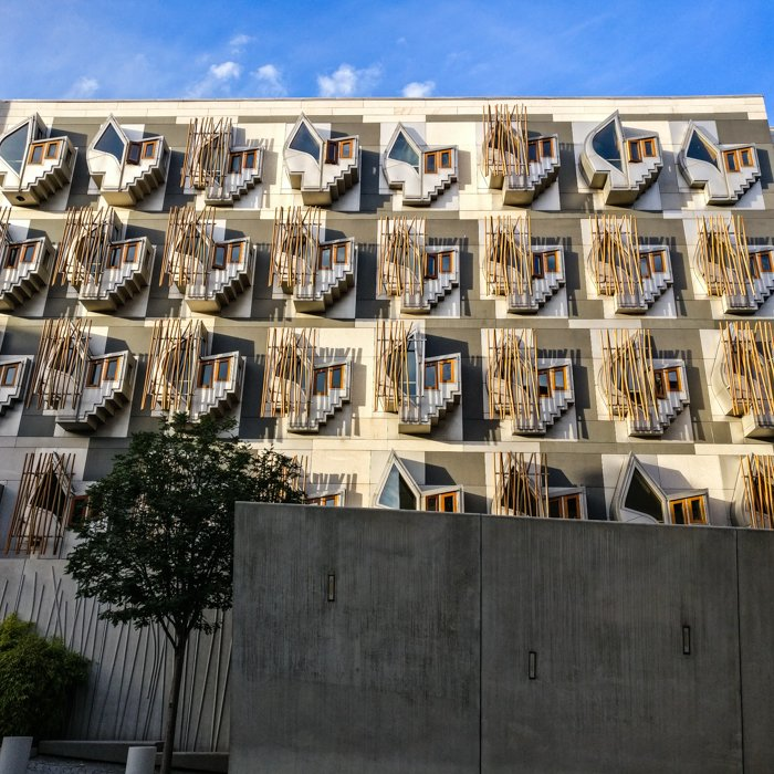 Scottish Parliament Enric Miralles Thinking Pods MSP Building | Old Town Architecture Tour Edinburgh
