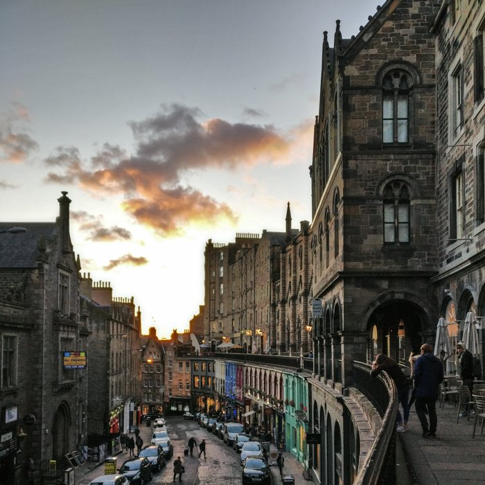 Victoria Terrace street view | Old Town Architecture Tour Edinburgh