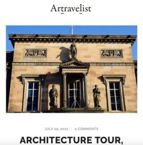 Blog cover image - Edinburgh Architecture Tours written about by Artravelist blog