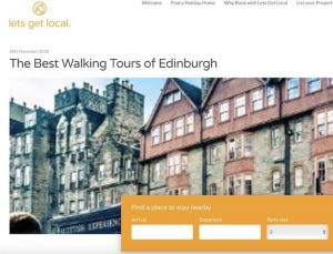 Blog cover image - Edinburgh Architecture Tours mentioned in Lets get local best walking tours