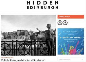 Blog cover image - Edinburgh Architecture Tours interview for Hidden Edinburgh