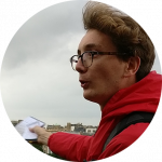 Portrait image of French architecture tour guide
