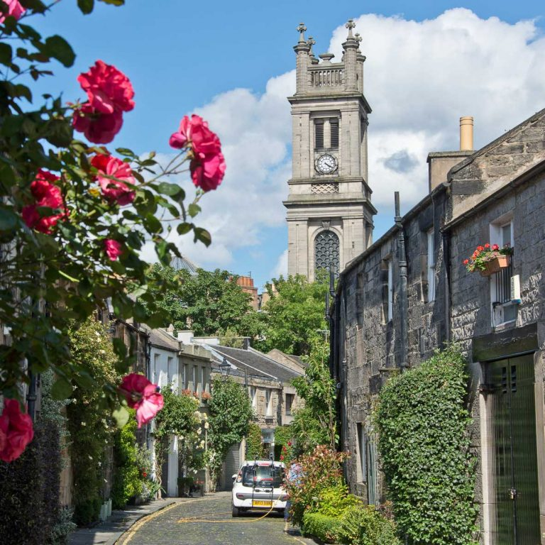 Circus Lane | St Stephen's Church | William Playfair | Edinburgh New Town Walking Tour