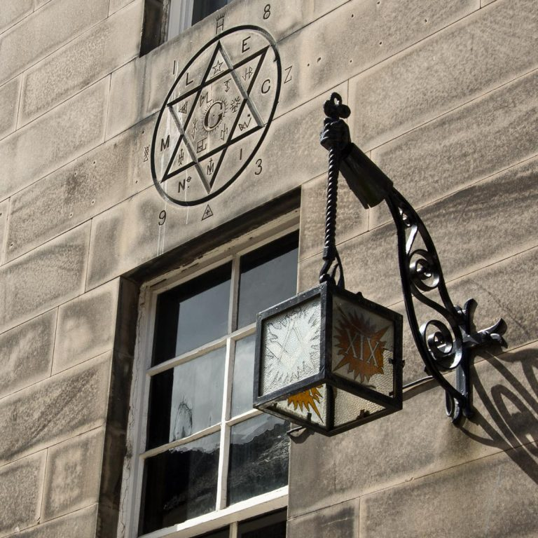 Masonic Lodge | Masonic Sign | Mary's Chapel No 1 | Lantern | Hill Street |Edinburgh New Town Walking tour