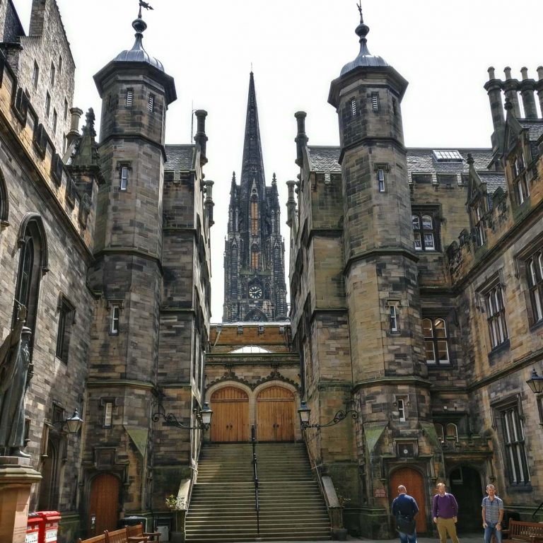 New College | Tudor Gothic Building | Edinburgh University | William Playfair | Royal Mile Tour