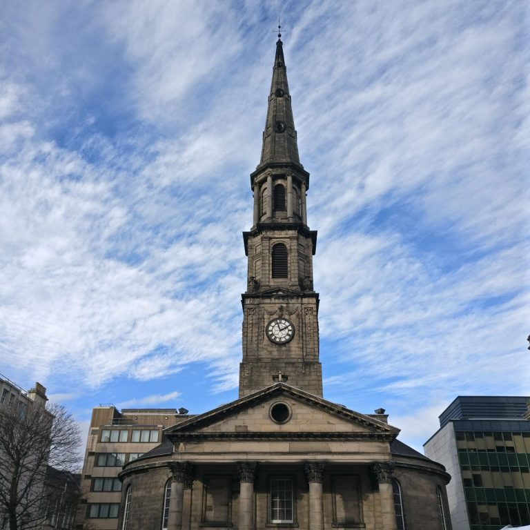 St Andrews Church | George Street | Edinburgh New Town Walking Tour | Georgian Architecture | Church Spire