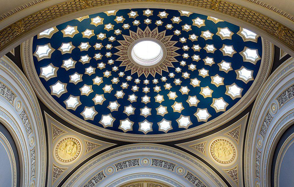 A star skylight dome of a bank at Dundas House, Edinburgh