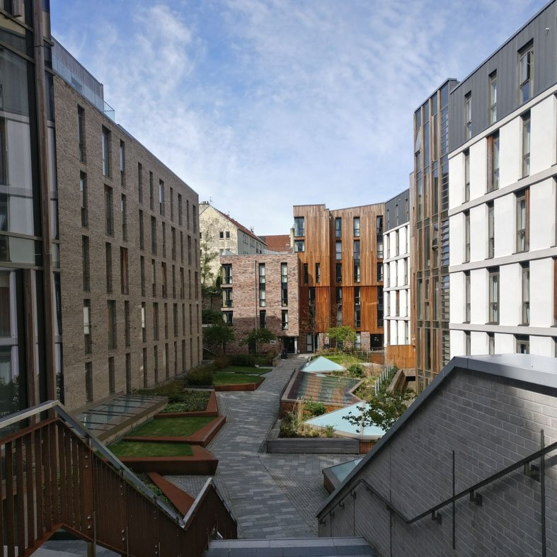 Student Housing at Holyrood North by JM Architects Edinburgh Architecture Walking Tour