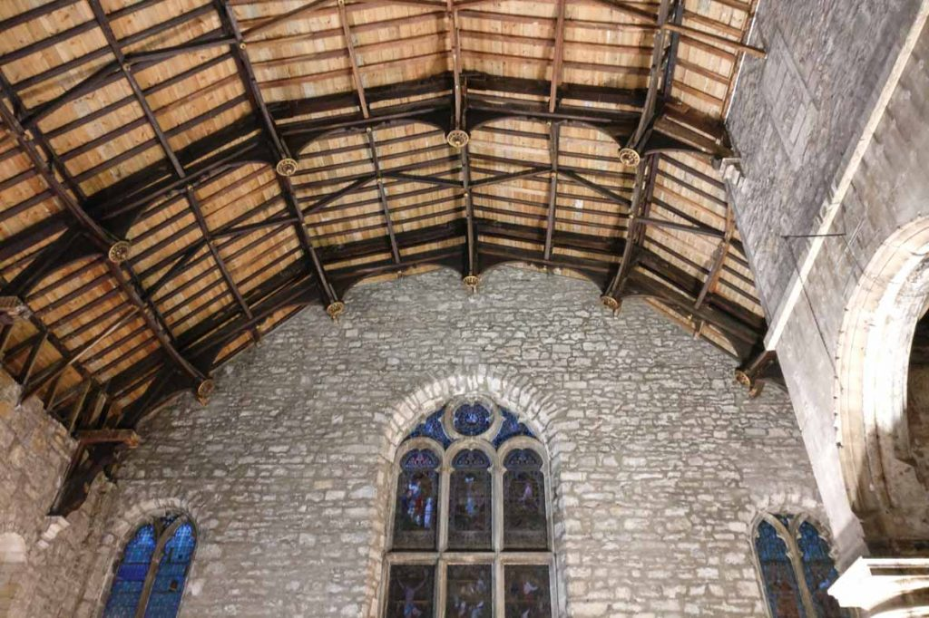Edinburgh Buildings: Tron Kirk Hammerbeam ceiling