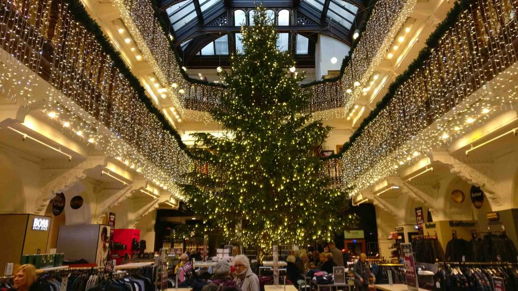 Edinburgh Christmas tree in Edinburgh Jenners department store