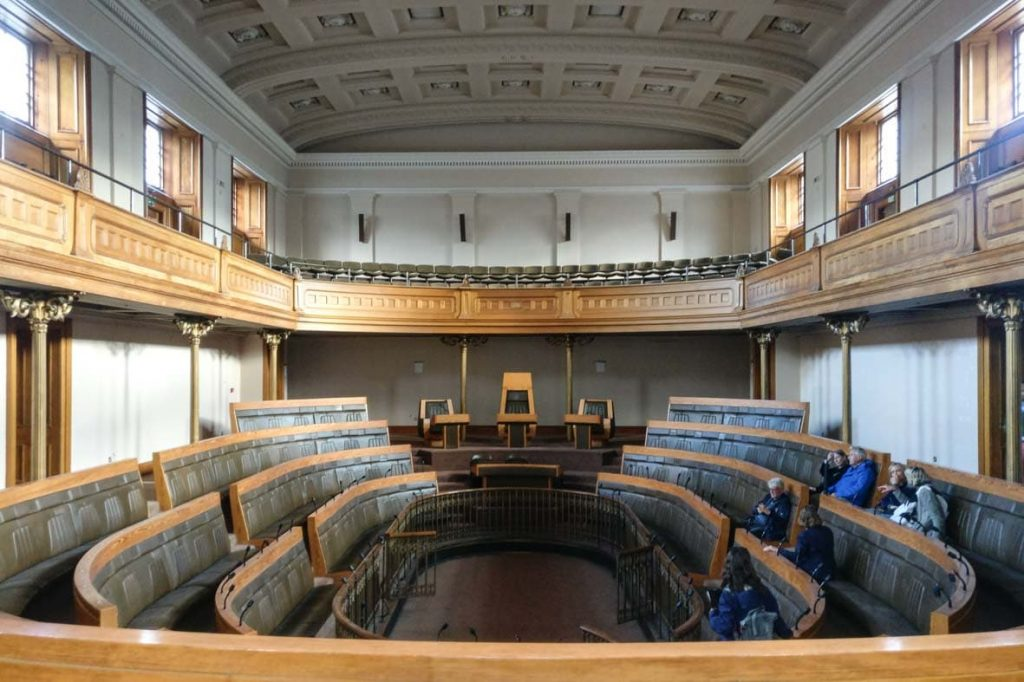 Debating Chamber of the Old Royal High School, one of the most beautiful Greek Revival buildings in Edinburgh