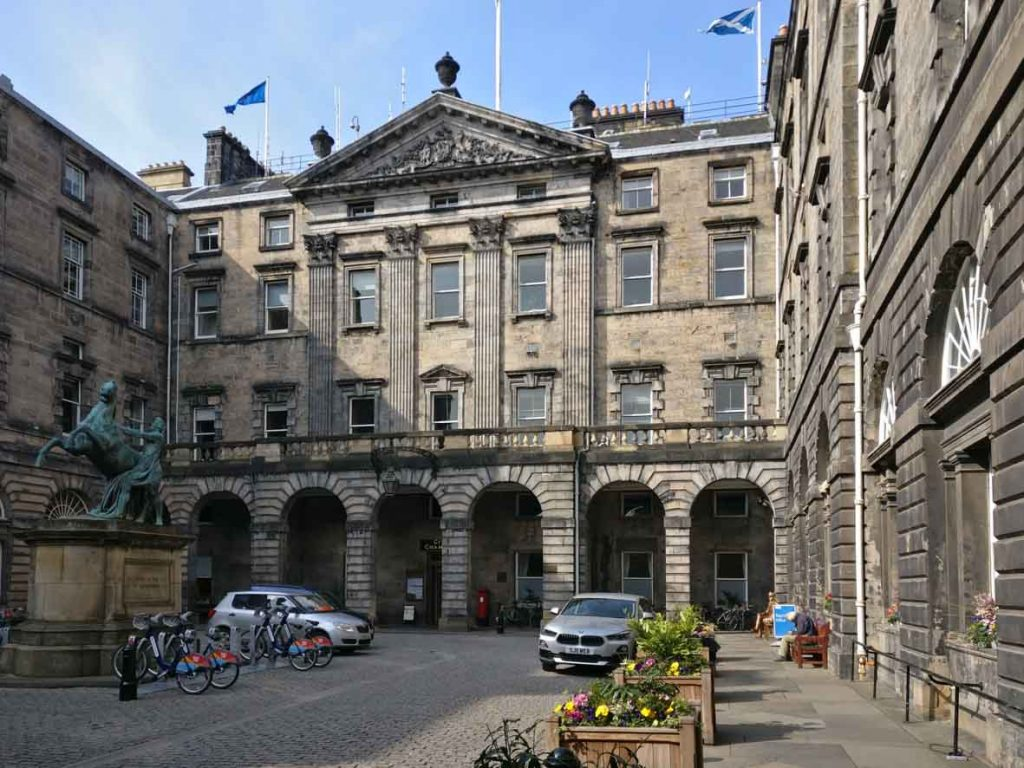 Edinburgh City Chambers, previously Royal Exchange in Edinburgh Old Town