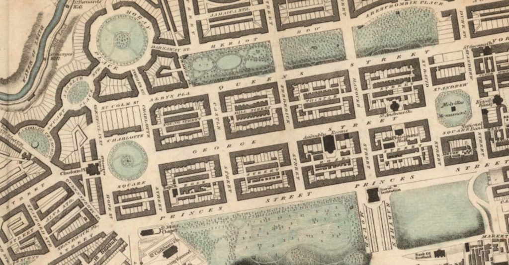 Edinburgh New Town Map