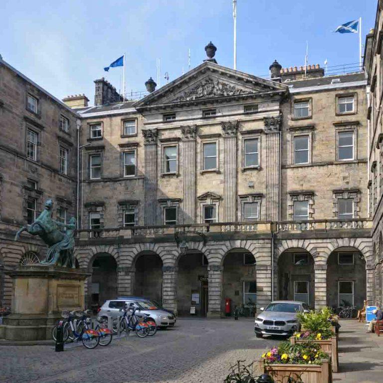 City Chambers seen on Edinburgh New Town audio tour